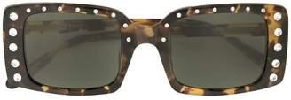 No.21 embellished rectangular-frame sunglasses