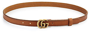 Gucci Women's GG Buckle Leather Belt