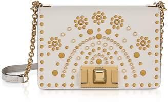 Furla Lino Mimi Mini Crossbody Bag w/ Gold Studs