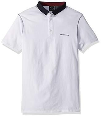 Armani Exchange A|X Men's Short Sleeve Polo Shirt Solid Collar