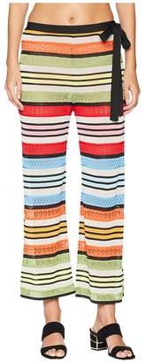 Mary Katrantzou Rego Trousers Fira Stripe Knit Women's Swimwear