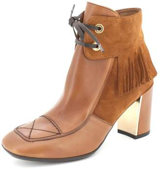 Hispanitas Fringed Brown Ankle-Bootie