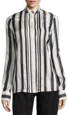 Haider Ackermann Striped Button Front Blouse $1,040 thestylecure.com