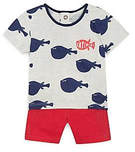 Catimini Baby Boy's Two-Piece Cotton T-Shirt& Shorts Set