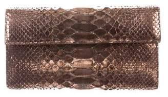 Nancy Gonzalez Metallic Python Clutch