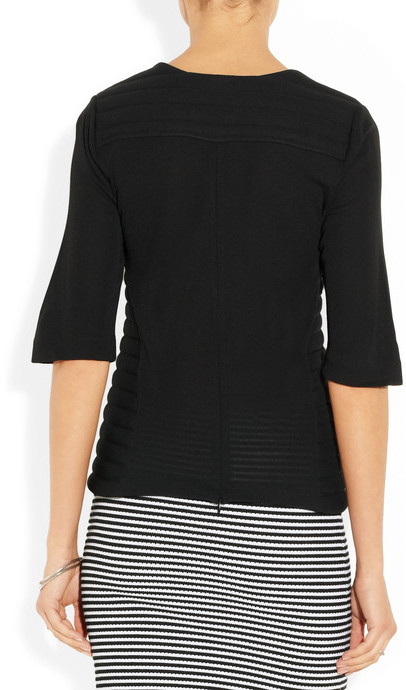 Dagmar Masina quilted stretch-jersey crepe top