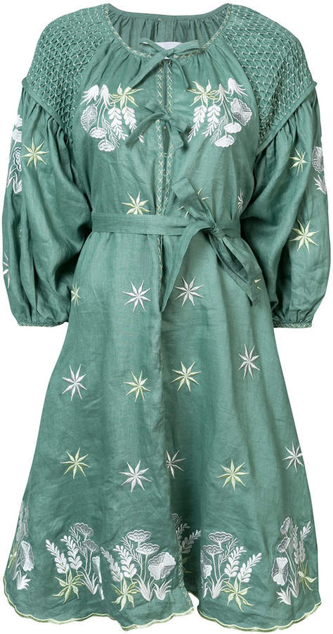 Innika Choo floral embroidered dress