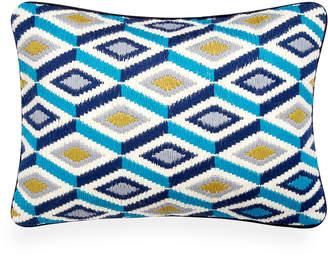 Jonathan Adler Turquoise Bargello Diamonds Throw Pillow