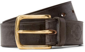 James Purdey & Sons 4cm Dark-Brown Burnished-Leather Belt