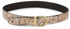 Steve Madden Reversible Snake-Embossed Belt