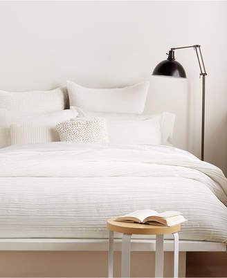 DKNY City Pleat White Full/Queen Duvet Cover Bedding
