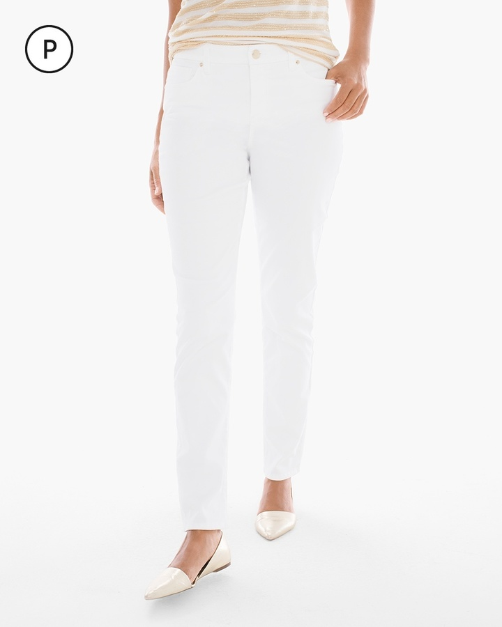 Chico's So Slimming Sateen Girlfriend Ankle Jeans