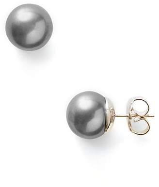 Majorica Women's 11mm Round Simulated Pearl Stud Earrings