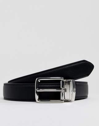 Ben Sherman reversible leather belt in oxblood and black
