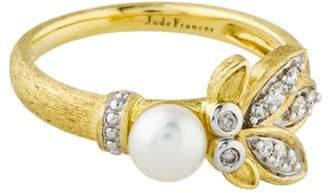 Jude Frances 18K Pearl & Diamond Cocktail Ring