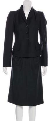 Salvatore Ferragamo Virgin Wool Pencil Skirt Suit
