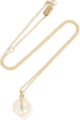 Ippolita Senso 18-karat Gold, Mother-of-pearl And Diamond Necklace