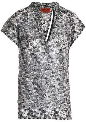 Missoni Crochet-Knit T-Shirt