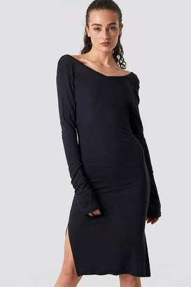 Olsen Astrid X Na Kd Low Back Jersey Dress Black