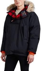 Woolrich Men's Atlantic Reversible Fur-Trimmed Down Anorak - Black