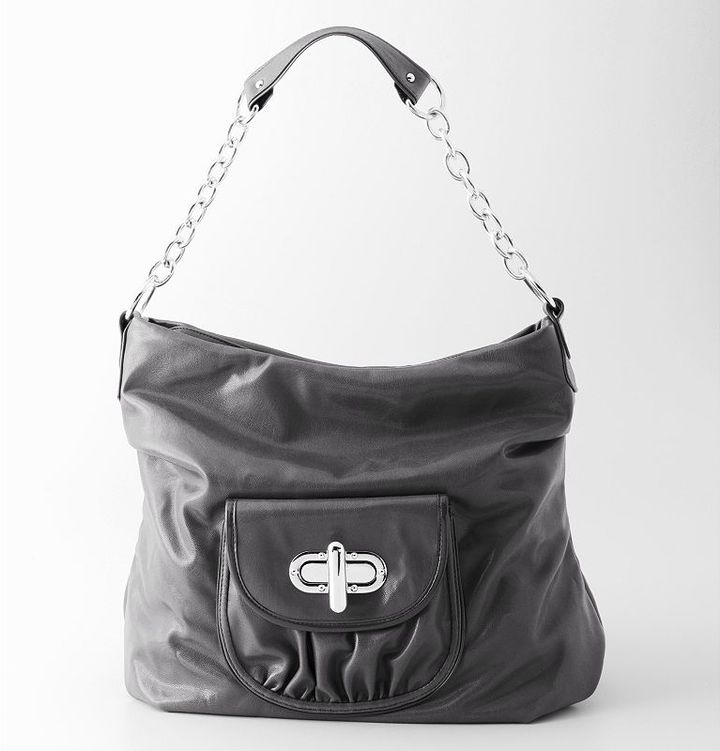 Daisy fuentes® turn-lock hobo