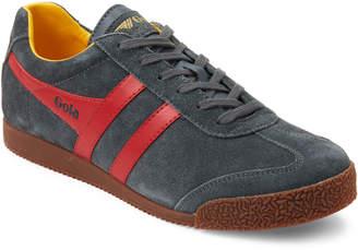 Gola Grey & Red Harrier Suede Low-Top Sneakers