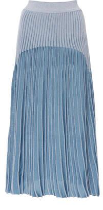 Balmain Ribbed Jacquard-Knit Midi Skirt Size: 34