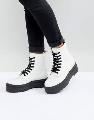 Asos Design Attitude Chunky Lace Up Boots