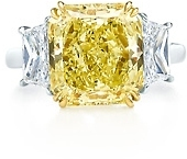 Tiffany & Co. Fancy Intense Yellow diamond ring