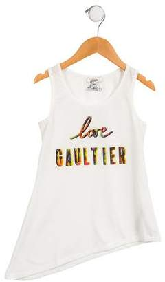 Junior Gaultier Girls' Printed Sleeveless Top w/ Tags
