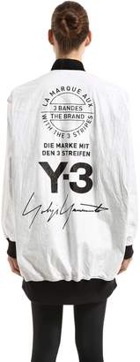 Y-3 Reversible Oversized Nylon Bomber Jacket