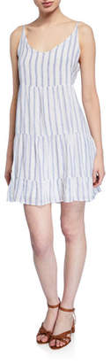 Rails Mattie Striped Tiered Ruffle-Hem Dress