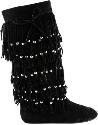 Saint Laurent Nino Fringe Flat Boot
