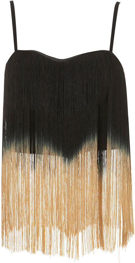 **Ombre Fringe Top by Rare