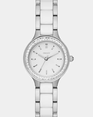 DKNY Chambers Silver-Tone Analogue Watch