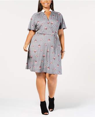 Plus Size Ruffle Collar Dress Shopstyle