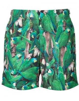 Orlebar Brown parakeet print swim shorts $315 thestylecure.com