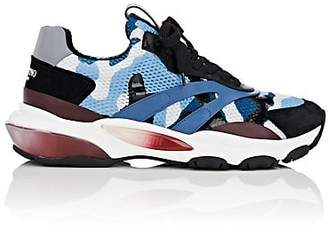 Valentino Men's Bounce Camouflage Mesh Sneakers - Blue