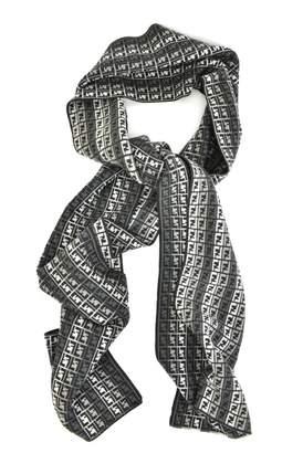 Fendi Grey Wool Scarves