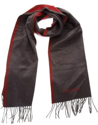 Salvatore Ferragamo Red & Grey Silk Scarf