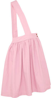 Comme des Garcons Poplin Midi Skirt - Pink