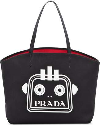 Prada printed canvas tote bag
