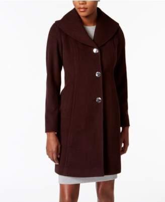 Anne Klein Walker Wool-Cashmere Blend Coat with Shawl Collar
