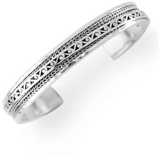 Lois Hill Sterling Silver Filigree Slim Open Cuff Bracelet