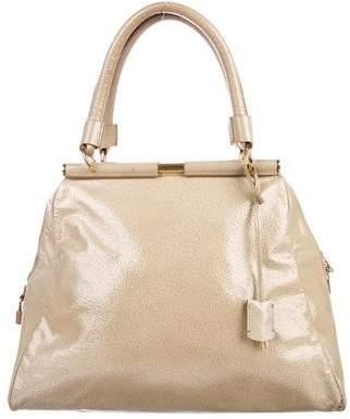 Saint Laurent Glazed Leather Shoulder Bag