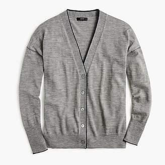 J.Crew Merino wool tipped cardigan sweater