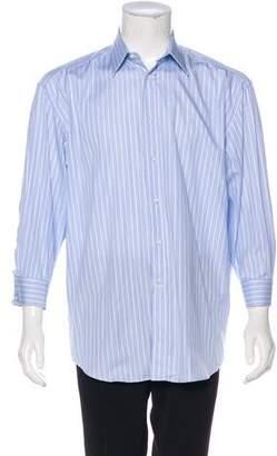 Canali French Cuff Striped Shirt