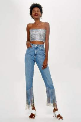 Topshop Carnival Dazzle Straight Leg Jeans