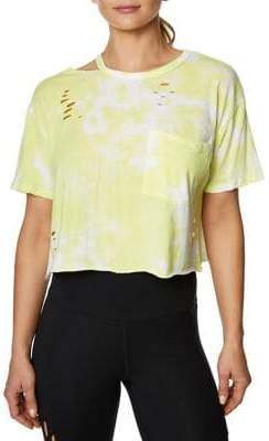 Betsey Johnson Oversized Distressed Boyfriend Crop Tee