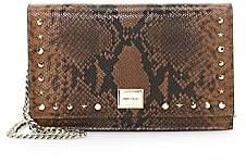 Jimmy Choo Women's Lizzie Snakeskin-Embossed Leather Clutch